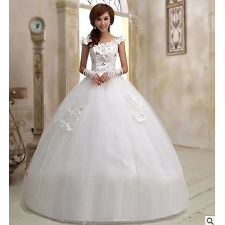 Charming Sweetheart Barbie Crystal Wedding Dress Small Size