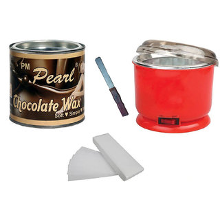 Choclate Wax With 90 Wax Strips Pack And Wax Auto Cut Heater Free Knife