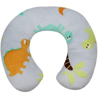 Wonderkids Baby Dinosaur Print Plush Neck Pillow - Multicolor