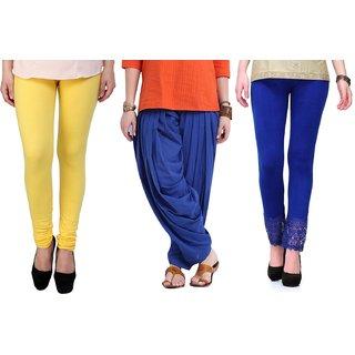 Stylobby Legging Patiala Salwar Lace Plazzo Combo Of 3