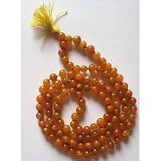 Raashi Orange Hakik (Agate) Mala, Agate Mala, Halik Mala, Orange Hakik Mala