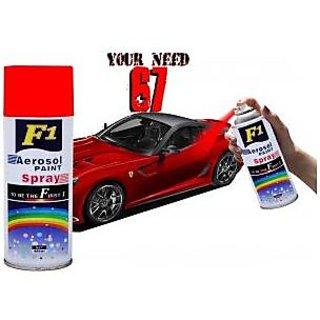 F1 aerosol spray paint red 450ml car bike multi purpose for Car paint shop prices