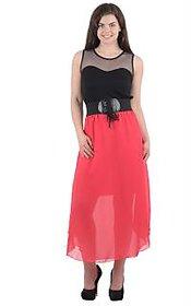 Westchic Black Plain Maxi Dress For Women