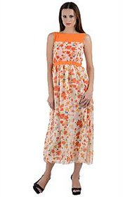 Westchic White Floral Maxi Dress For Women