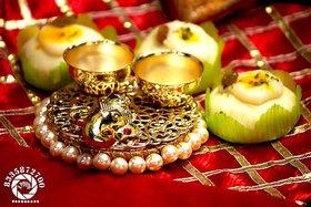 Handmade Designer Diya Diwali Pooja Gift T-Light Diyas