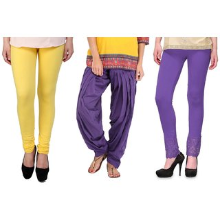 Stylobby Legging Patiala Salwar Lace Plazzo Combo Of 3