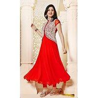 Rajnandini Red Colour Georgette Anarkali Salwar Suit