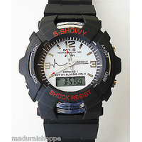 NEW ARRIVAL.. S-SHOWY Sports Wrist Watch Best Gift Men Dual Time Analog & Digital Alarm Small