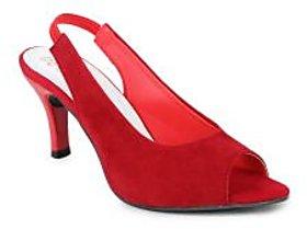 Do Bhai Women's Red Heels