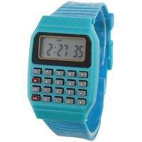 Pappi Boss Unisex Blue Calculator, Date  Time Watch