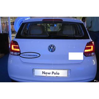 Volkswagen Car Monogram CHROME EMBLEM Logo Emblem Polo Monogram