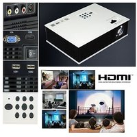 "HD 120"" LED Home Theater Projector, AV VGA HDMI USB SD TV Input"