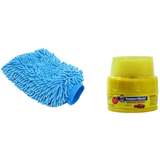 Speedwav Car Cleaning Kit Microfiber Glove + Abro Wax Polish - (34881)