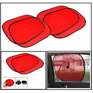 Takecare Stick On Sunshade Red For Tata Vista