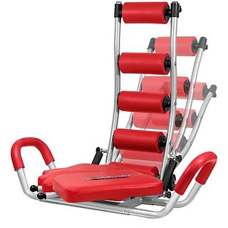 Evana Amazing Abdominal Trainer Ab Exerciser (Silver, Red)