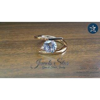 18k YELLOW GOLD RING WITH OFF WHITE MOISSAINITE DIAMOND