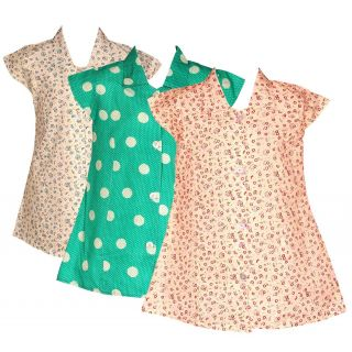 Wajbee Remarkable Girls Frora Frocks Set Of 3 (WFF3-13)