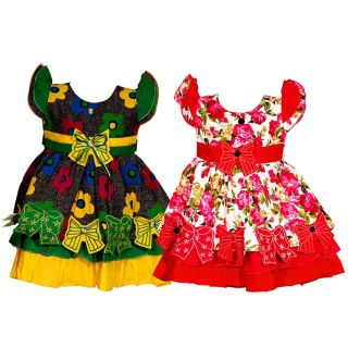 Wajbee Startling Girls Fancy Frocks Set Of 2 (WFBP2-23)