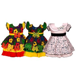 Wajbee Sassy Girls Fancy Frocks Set Of 3 (WFBP3-15)