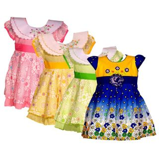 Wajbee Appreciable Girls Fancy Frocks Set Of 4 (WFBP4-02)