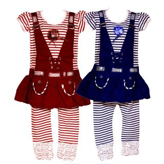 Wajbee Gorgeous Girls Hosiery Frocks Set Of 2 (WFHP2-29)