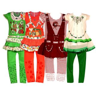 Wajbee Impressive Girls Hosiery Frocks Set Of 4 (WFHP4-07)