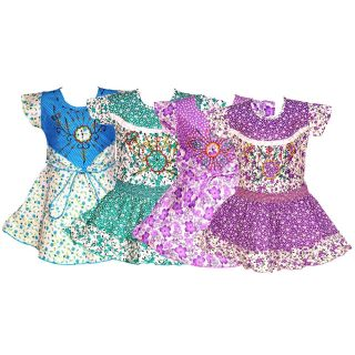 Wajbee Authentic Girls Cotton Frocks Set Of 4 (WFSP4-08)