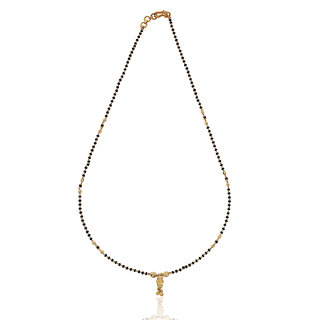 Karatcraft.in Eiravati 22kt BIS Hallmarked Gold Mangalsutra with Black Beads MGA0046