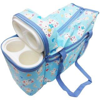 Wonderkids Blue Bunny Print Baby Diaper Bag
