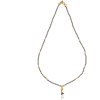 Karatcraft.in Dhrishyaa 22kt BIS Hallmarked Gold Mangalsutra with Black Beads MGA0033