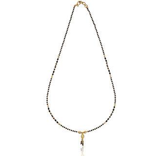 Karatcraft.in Masara 22kt BIS Hallmarked Gold Mangalsutra with Black Beads MGA0044