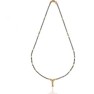 Karatcraft.in Arkita 22kt BIS Hallmarked Gold Mangalsutra with Black Beads MGA0047