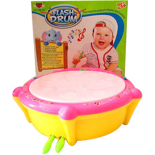 BJR-Musical Flash Drum Light Sound Toy with 2 Sticks