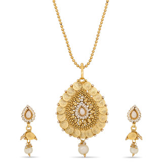 Designer Gini Gold Plated Pendant Set PS-1283