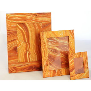 Handmarbled Paper Photoframe- Combo S/3 In 3 Sizes