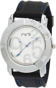 FNB Silver Analog Watch fnb0019