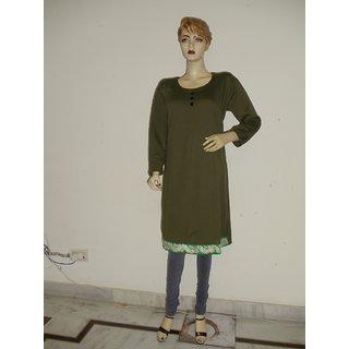 Plus size green swead kurti
