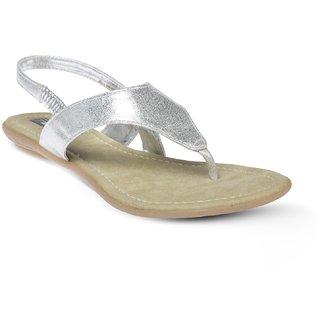 Vendoz Elegant Silver Flats