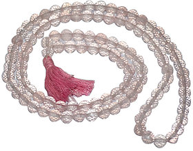 Divya Feng Shuii Rose Quartz Mala ( Diamond Cut)