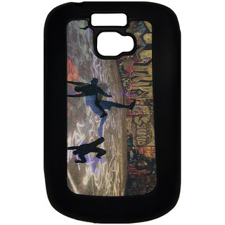 Mobile Back Cover ZT12713 Multicolor 3D Rubberised Soft Mobile Back Case for Micromax Bolt A064