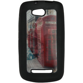 Mobile Back Cover ZT12963 Multicolor 3D Rubberised Soft Mobile Back Case for Micromax Bolt A065