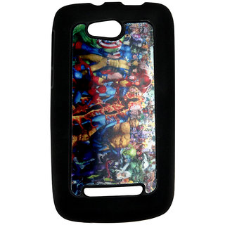 Mobile Back Cover ZT12974 Multicolor 3D Rubberised Soft Mobile Back Case for Micromax Bolt A065