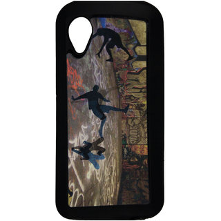Mobile Back Cover ZT12767 Multicolor 3D Rubberised Soft Mobile Back Case for Micromax Bolt A082