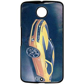 Mobile Back Cover ZT13070 Multicolor 3D Rubberised Soft Mobile Back Case for Motorola Nexus 6
