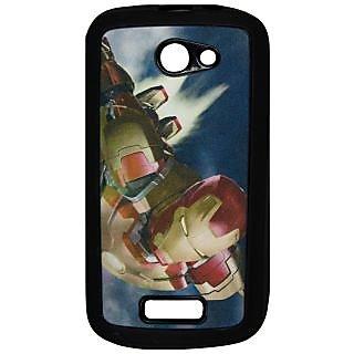 Mobile Back Cover ZT12826 Multicolor 3D Rubberised Soft Mobile Back Case for Micromax Unite A092