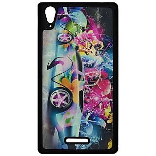 Mobile Back Cover ZT12947 Multicolor 3D Rubberised Soft Mobile Back Case for Sony Xperia T3