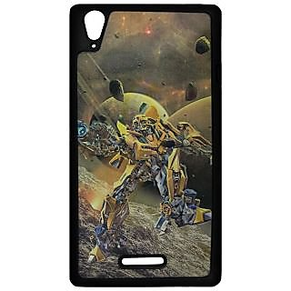 Mobile Back Cover ZT12948 Multicolor 3D Rubberised Soft Mobile Back Case for Sony Xperia T3