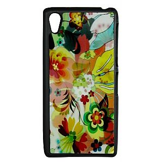 Mobile Back Cover ZT13104 Multicolor 3D Rubberised Soft Mobile Back Case for Sony Xperia Z2