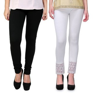 Stylobby Legging And Lace Plazzo Combo Of 2