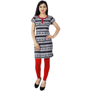 Sukuma Red Animal Polycotton Stitched Kurti
